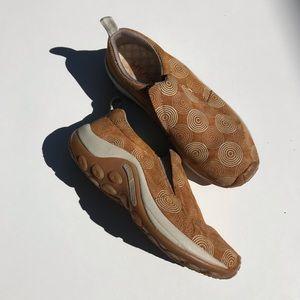 Women's Merrell Jungle Moc Tiger Gold shoes 7.5